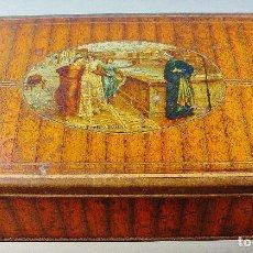 Cajas y cajitas metálicas: CAJA EN METAL LITOGRAFIADO. DANTE Y BEATRIZ. Lote 72223699