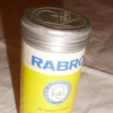 Cajas y cajitas metálicas: BOTE (VACÍO) PASTILLAS RABRON. Lote 72705387