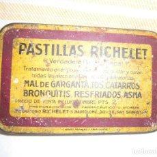 Cajas y cajitas metálicas: CAJITA METALICA PASTILLAS RICHELET. Lote 72898191