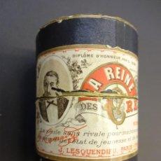 Cajas y cajitas metálicas: LA REINE DES CREMES. ENVASE DE CARTÓN. CREMA DE BELLEZA. COSMÉTICA. ORIGINAL. CIRCA 1900. Lote 73241711