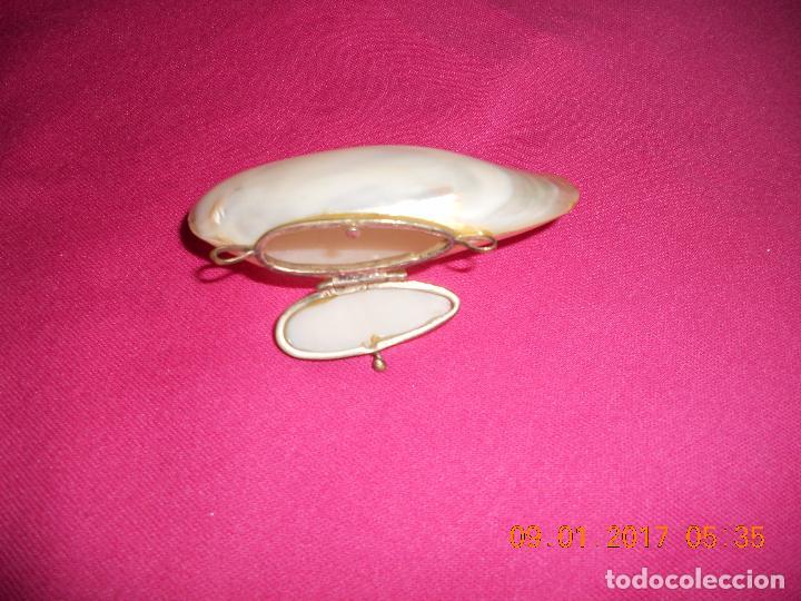 Cajas y cajitas metálicas: CAJITA PASTILLERO DE NACAR TIPO CONCHA - Foto 5 - 73529195