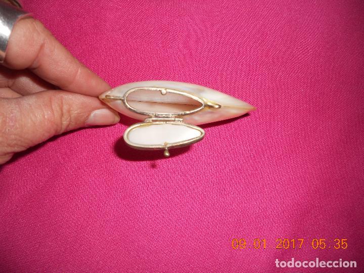 Cajas y cajitas metálicas: CAJITA PASTILLERO DE NACAR TIPO CONCHA - Foto 9 - 73529195