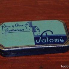Cajas y cajitas metálicas: LATA DE RIZA Y CRECE PESTAÑAS SALOMÉ - LLENA - CAJA DE RIMEL. Lote 73719463