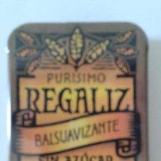 Cajas y cajitas metálicas: CAJITA DE REGALIZ. Lote 62881536