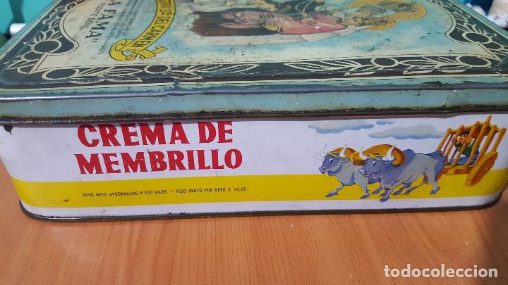 Cajas y cajitas metálicas: Caja metálica de crema de membrillo fama puente genil - Foto 2 - 73830419