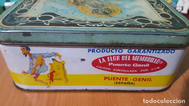 Cajas y cajitas metálicas: Caja metálica de crema de membrillo fama puente genil - Foto 4 - 73830419
