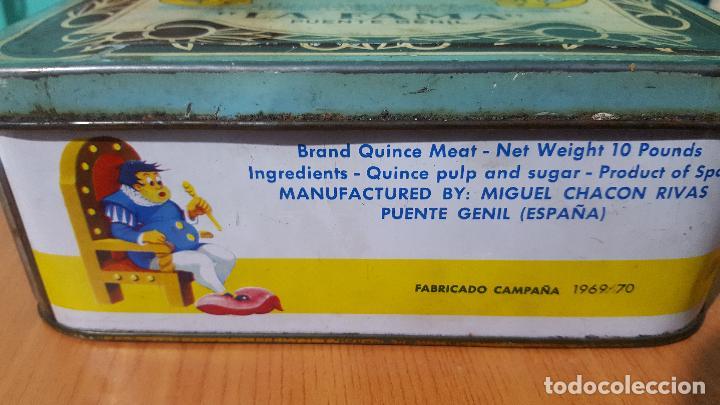 Cajas y cajitas metálicas: Caja metálica de crema de membrillo fama puente genil - Foto 5 - 73830419