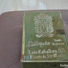 Cajas y cajitas metálicas: CAJA DE BRANDY VIEJISIMO MILENARIO LUIS CABALLERO S.A. PUERTO DE SANTA MARIA . Lote 74482691