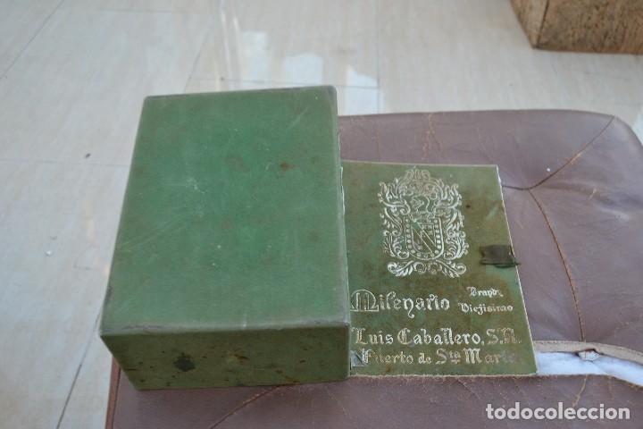 Cajas y cajitas metálicas: caja de brandy viejisimo milenario luis caballero s.a. puerto de santa maria - Foto 2 - 74482691