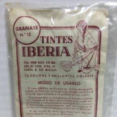 Cajas y cajitas metálicas: SOBRE EMBASE DE TINTES IBERIA LLENO. Lote 74514271