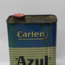 Cajas y cajitas metálicas: LATA DE LÍQUIDO DE FRENOS MARCA AZUL, FABRICACIÓN CARLEN. MADRID. AÑOS 40. MIDE 16,4 DE ALTO X 6,7 X. Lote 74524133