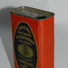 Caixas e caixinhas metálicas: ANTIGUA CAJA DE HOJALATA LITOGRAFIADA DE POLVORA DE CAZA FFF, SOCIEDAD ANÓNIMA STA. BÁRBARA, OVIEDO. Lote 74524621