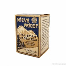 Cajas y cajitas metálicas: CAJA CAJITA DE CARTON NIEVE FRICOT PRODUCTOS PARA EL CUTIS. F. BETRIAN BARCELONA AÑOS 30. Lote 269282918