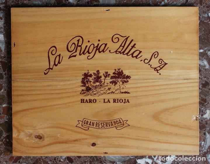 tabla madera de caja de vino decoracin bar restaurante bodega la rioja