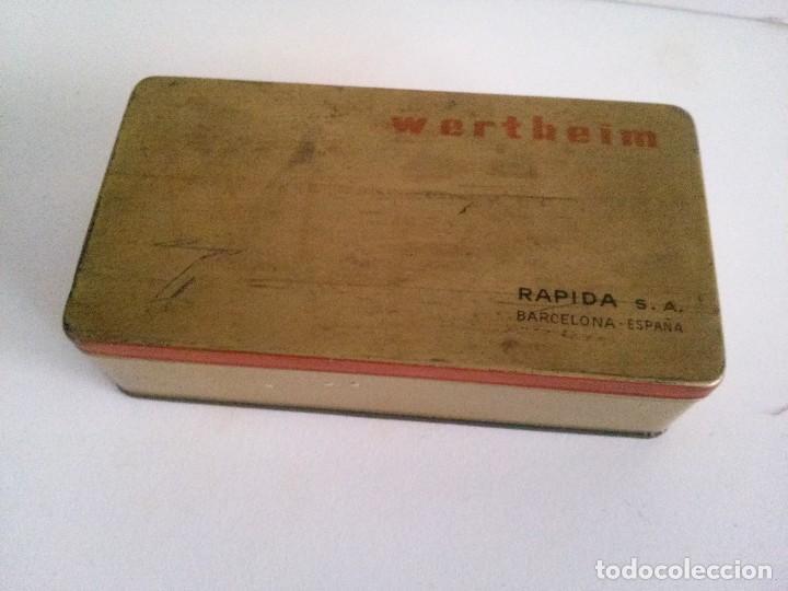 CAJA DE LATA O METAL DE MÁQUINA WERTHEIM (Coleccionismo - Cajas y Cajitas Metálicas)