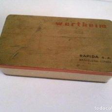 Cajas y cajitas metálicas: CAJA DE LATA O METAL DE MÁQUINA WERTHEIM. Lote 75163859