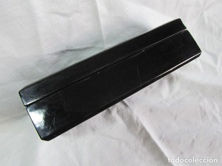 Cajas y cajitas metálicas: Caja de papel maché lacada con incrustaciones de nácar - Foto 11 - 75420223