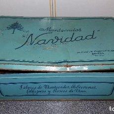 Cajas y cajitas metálicas: LATA CAJA DE CHAPA ANTIGUA MANTECADOS POLVORONES ALFAJORES ESTEPA ANTONIO RODRÍGUEZ ROBLES SEVILLA. Lote 75548151