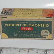Cajas y cajitas metálicas: CAJA DE FARMACIA YODURO DE MAGNESIO LABORATORIOS ORLI // AÑOS 30 SIN DESPRECINTAR. Lote 75801823