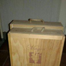 Cajas y cajitas metálicas: PAR DE CAJAS DE VINO (VACIAS). Lote 76561954