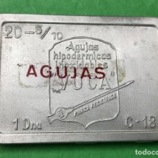 Cajas y cajitas metálicas: CAJA DE ALUMINIO DE AGUJAS HIPODERMICAS INOXIDABLES - VOCA. Lote 76622207