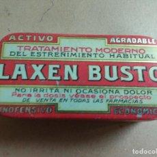 Cajas y cajitas metálicas: ANTIGUA CAJA METALICA LAXEN BUSTO PARA EL EXTREÑIMIENTO, MUY BUEN ESTADO. Lote 76628079