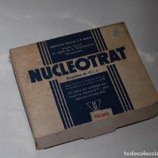 Cajas y cajitas metálicas: CAJA DE FARMACIA NUCLEOTRAT LAB. JESÚS ROCASOLANO. Lote 76780591