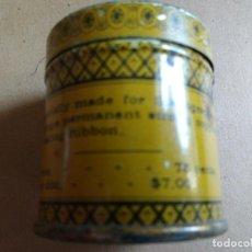 Cajas y cajitas metálicas: ANTIGUA CAJA DE HOJALATA, MM REMINGTON RIBBON, MITAG & VULGER, USA. Lote 76841483