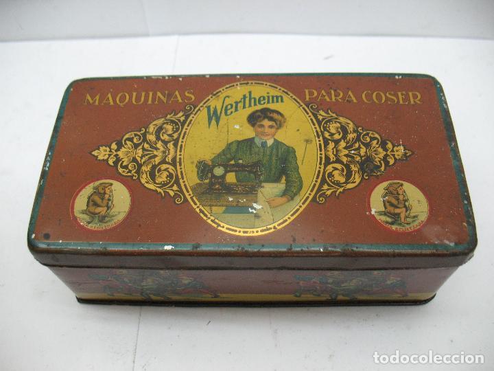 Cajas y cajitas metálicas: Antigua caja metálica Máquinas para cose Wertheim - Foto 2 - 77208993