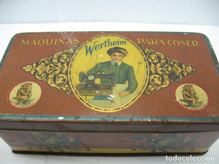 Cajas y cajitas metálicas: Antigua caja metálica Máquinas para cose Wertheim - Foto 3 - 77208993