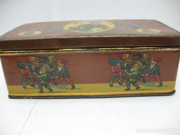 Cajas y cajitas metálicas: Antigua caja metálica Máquinas para cose Wertheim - Foto 4 - 77208993
