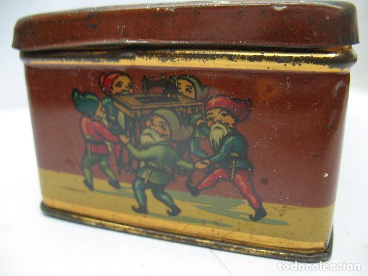 Cajas y cajitas metálicas: Antigua caja metálica Máquinas para cose Wertheim - Foto 5 - 77208993