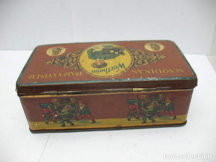 Cajas y cajitas metálicas: Antigua caja metálica Máquinas para cose Wertheim - Foto 6 - 77208993