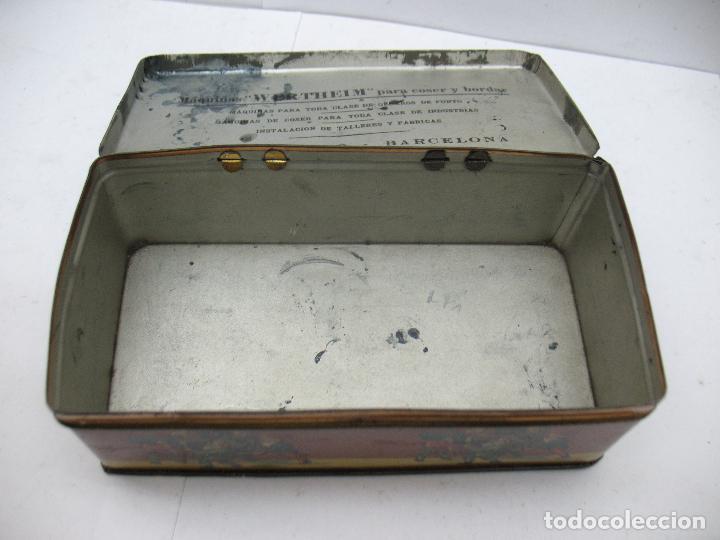Cajas y cajitas metálicas: Antigua caja metálica Máquinas para cose Wertheim - Foto 7 - 77208993