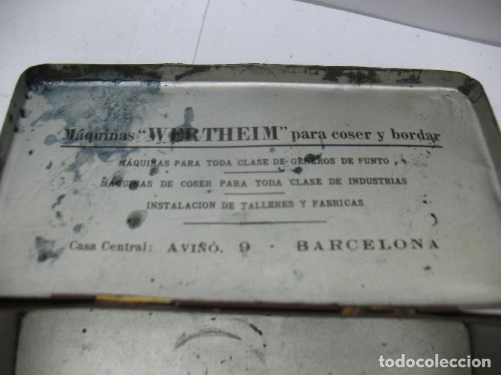 Cajas y cajitas metálicas: Antigua caja metálica Máquinas para cose Wertheim - Foto 8 - 77208993
