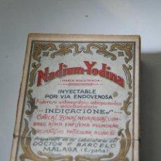 Cajas y cajitas metálicas: CAJA DE FARMACIA NADIUM YODINA DEL DR. BARCELÓ MÁLAGA // SIN DESPRECINTAR MODERNISTA. Lote 77940397
