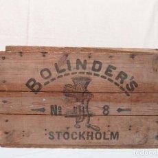 Cajas y cajitas metálicas: CAJA DE MADERA BOLINDER'S Nº8 STOCKHOLM / SWEDEN. Lote 78037397