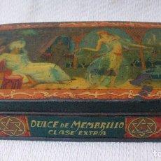 Cajas y cajitas metálicas: ANTIGUA CAJA DE DULCE DE MEMBRILLO CLASE EXTRA. Lote 78065469