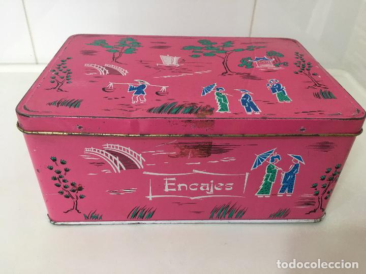 Cajas y cajitas metálicas: CAJA COLA CAO, METALICA, COLECCION MOTIVOS CHINOS **ENCAJES** - Foto 2 - 78348977