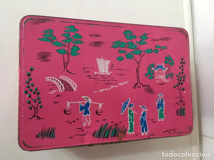 Cajas y cajitas metálicas: CAJA COLA CAO, METALICA, COLECCION MOTIVOS CHINOS **ENCAJES** - Foto 6 - 78348977