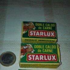 Cajas y cajitas metálicas: LOTE DE 3 CAJAS STARLUX - DOBLE CALDO DE CARNE - TAMAÑO MINI - RARAS.. Lote 47348937