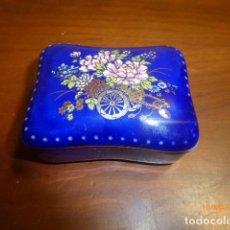 Cajas y cajitas metálicas: CAJA CAJITA PORCELANA FINA. HIRO, JAPAN. AÑOS 70. ALTA CALIDAD.. Lote 79305265