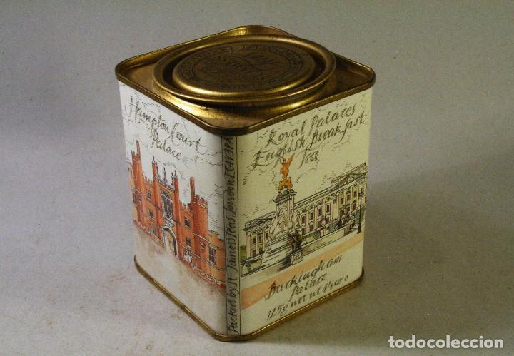 CAJA DE LATA DE TE INGLESA ROYAL PALACES ENGLISH BREAKFAST TEA 10 CMS ALTO (Coleccionismo - Cajas y Cajitas Metálicas)