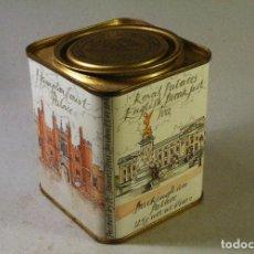 Cajas y cajitas metálicas: CAJA DE LATA DE TE INGLESA ROYAL PALACES ENGLISH BREAKFAST TEA 10 CMS ALTO. Lote 79621213