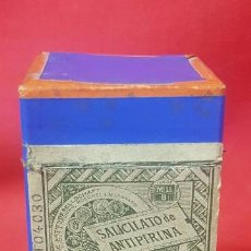 Casse e cassette metalliche: FARMACIA. CAJA DE CARTON REPUBLICA. SALICILATO DE ANTIPIRINA.. Lote 28573523