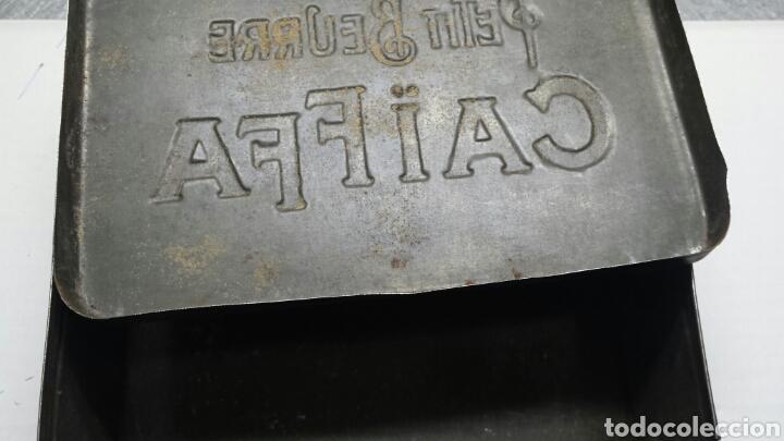 Cajas y cajitas metálicas: Chapa caja metalica Antigua Petit Beurre CAIFFA rarísima - Foto 4 - 79940171