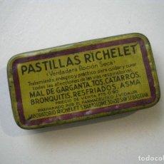 Cajas y cajitas metálicas: CAJA PASTILLAS RICHELET. Lote 56960107