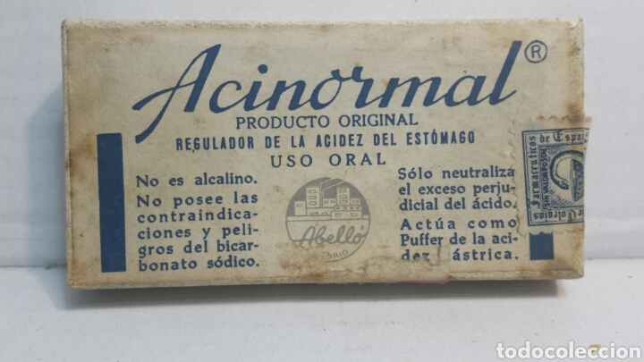 CAJITA DE FARMACIA ACINORMAL DE LABORATORIOS ABELLO (Coleccionismo - Cajas y Cajitas Metálicas)