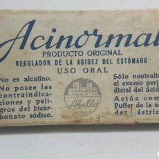 Cajas y cajitas metálicas: CAJITA DE FARMACIA ACINORMAL DE LABORATORIOS ABELLO. Lote 80259270