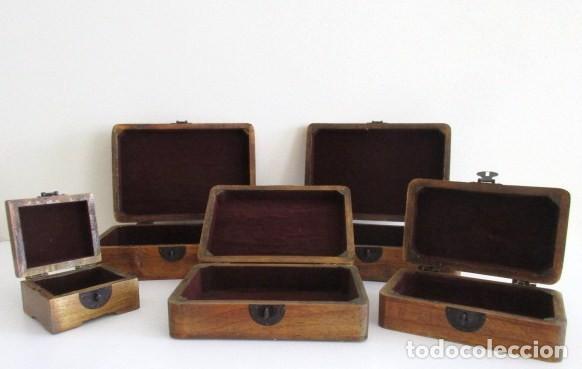 Juego de cinco cajas de madera decorativas for comprar - Cajas de madera decorativas ...